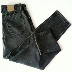 Women's 14 Vintage Lee High Waisted Black Jeans